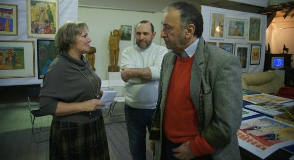 Члены жюри конкурса скульптор Екатерина Серова художник Зураб Пачулия председатель жюри конкурса  Скульптор Александр Рябичев