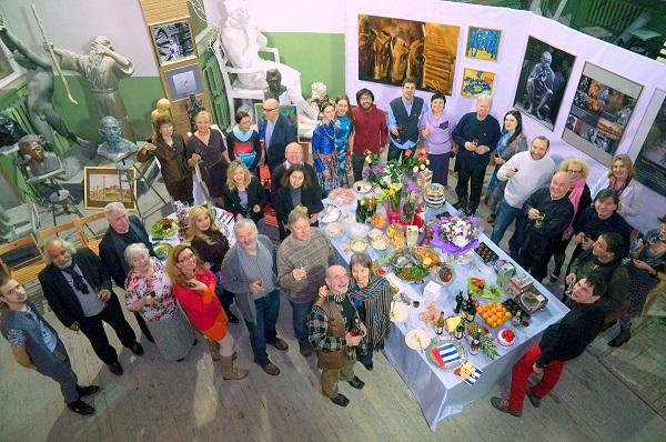 Открытие Выставки «Индия, Индия…» в Мастерской Рябичевых в День Рождения Александра Рябичева 13 февраля, 2014 г.